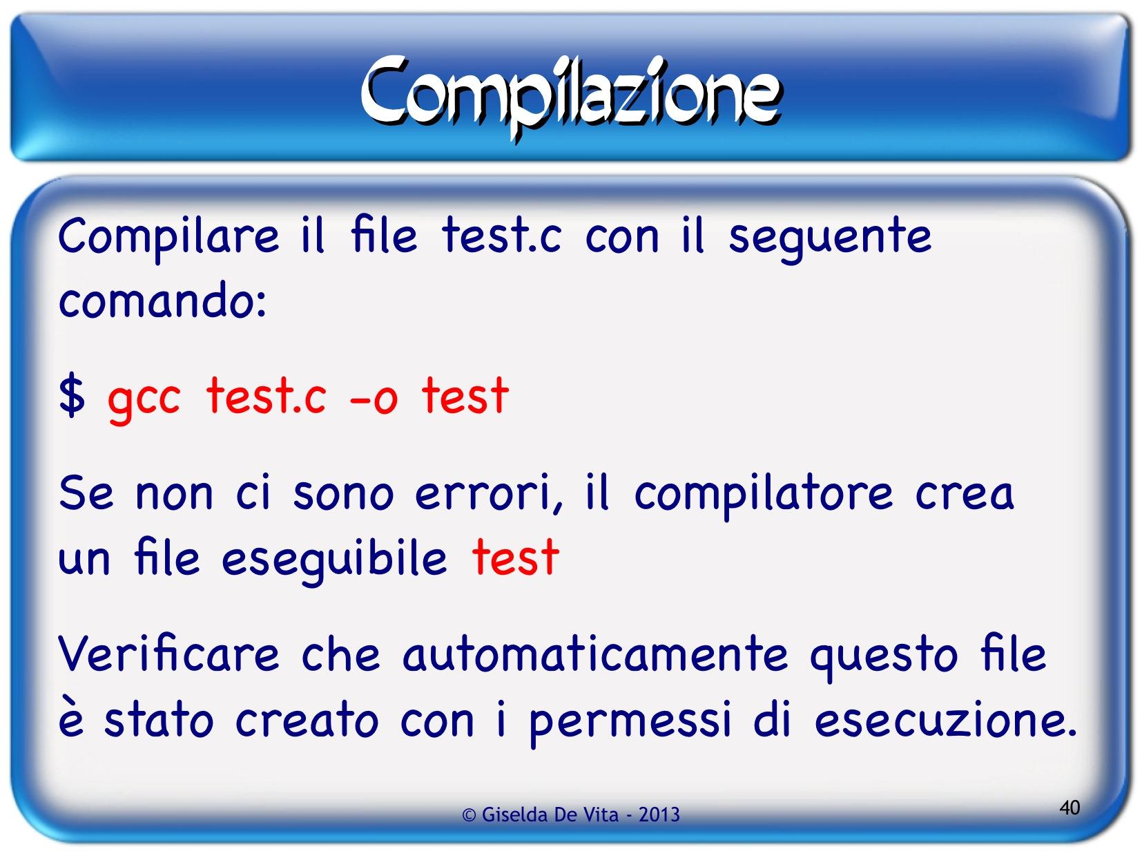 compilatore c